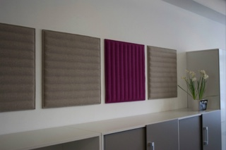 Acoustic panels at Caithness House, St Vincent Street